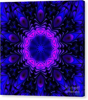 Canvas Print featuring the digital art Wild Blue by Hanza Turgul