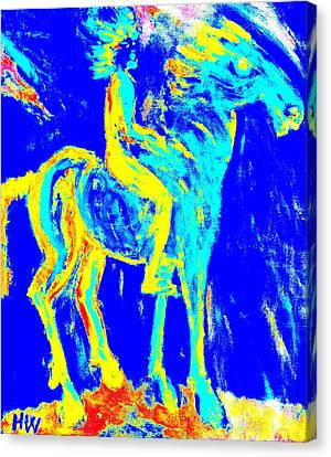 my Wild blue horse will blow away with me  Canvas Print by Hilde Widerberg