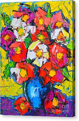 Wild Colorful Flowers Canvas Print by Ana Maria Edulescu