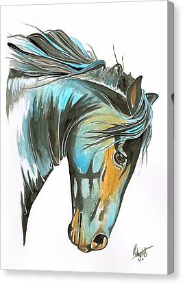 Forelock Canvas Print - Wild Courage by Robyn Green