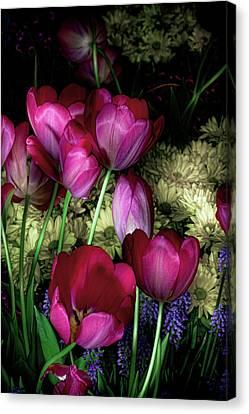 Wild Crazy Beautiful Tulip Garden Canvas Print by Linda Matlow