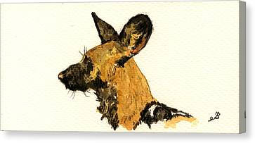 Wild Dog Canvas Print by Juan  Bosco