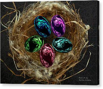 Wild Eggs In My Nest Canvas Print by Barbara St Jean