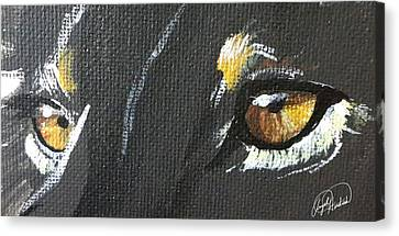 Wild Eyes Canvas Print by Angela  Hendricks