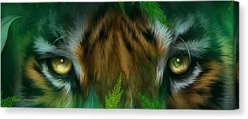 Wild Eyes - Bengal Tiger Canvas Print by Carol Cavalaris