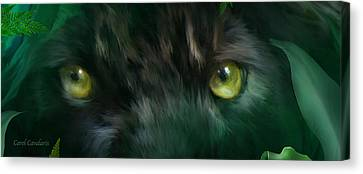 Wild Eyes - Black Panther Canvas Print