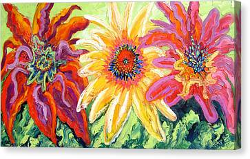 Wild Flowers Canvas Print by Isabelle Gervais