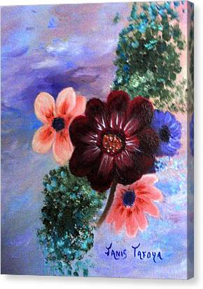 Wild Flowers Canvas Print by Janis  Tafoya