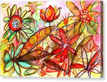Wild Flowers Series #1 Canvas Print by Niya Christine