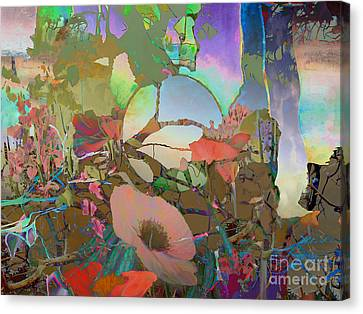 Canvas Print featuring the digital art Wild Flowers by Ursula Freer