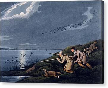 Wild Fowl Shooting, 1820 Canvas Print