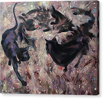 Wild Grasses  Canvas Print by Anastasija Kraineva