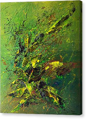 Wild Green Canvas Print by Thierry Vobmann
