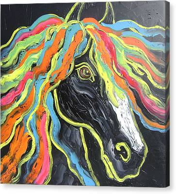 Wild Horse Canvas Print by Isabelle Gervais