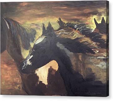 Wild Horses Canvas Print by Krista Ouellette