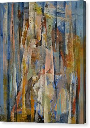 Wild Horses Abstract Canvas Print