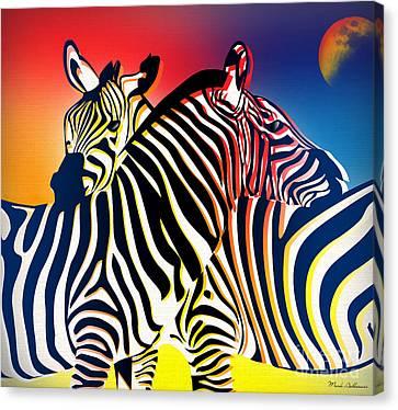 Abstract Wildlife Canvas Print - Wild Life 2 by Mark Ashkenazi