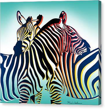 Zebra Art Canvas Print - Wild Life  by Mark Ashkenazi