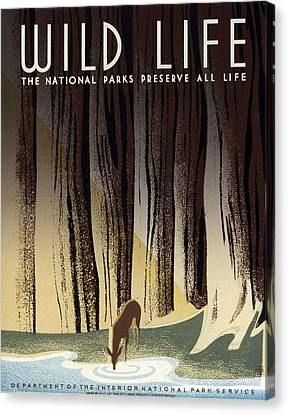 Wild Life Poster, C1940 Canvas Print by Granger