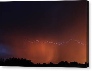 Canvas Print featuring the photograph Wild Lightning by Ryan Crouse