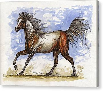 Wild Mustang Canvas Print by Angel  Tarantella