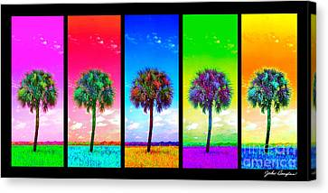 Wild Palms X5 Canvas Print