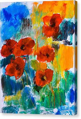 Wild Poppies Canvas Print by Elise Palmigiani