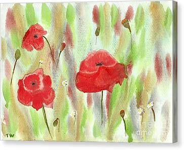 Wild Poppies Canvas Print by Tracey Williams