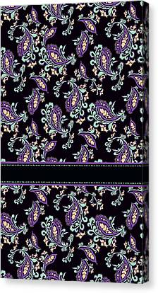 Wild Purple Paisley Canvas Print by Jenny Armitage
