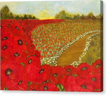 Wild Red Poppies Canvas Print