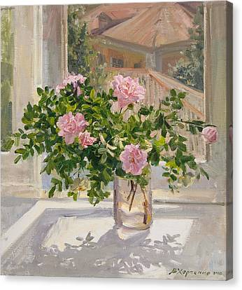 Wild Rose Canvas Print by Victoria Kharchenko