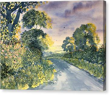 Wild Roses On The Wolds Canvas Print