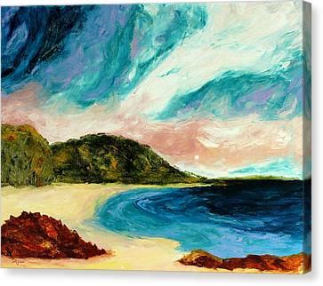 Wild Sky Over The Bay Canvas Print by Scott Jackson