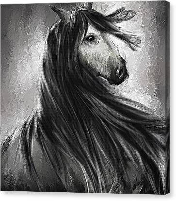 Wild Soul- Fine Art Horse Artwork Canvas Print by Lourry Legarde