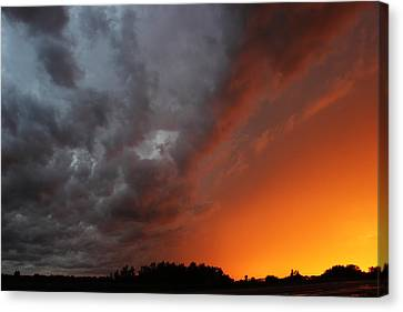 Wild Storm Clouds Over Yorkton Canvas Print