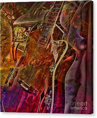 Wild Strings Digital Guitar Art By Steven Langston Canvas Print