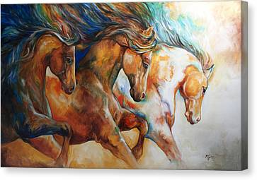 Wild Trio Run Canvas Print