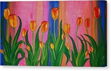 Wild Tulips Canvas Print by Cindy Micklos