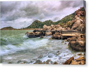 Canvas Print featuring the photograph Wild Weather On Lake Altus - Oklahoma - Quartz Mountains by Jason Politte