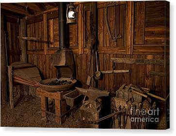 Canvas Print featuring the photograph Wild West Blacksmith by Keith Kapple