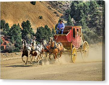 Wagon Canvas Print - Wild West Ride 2 by Donna Kennedy