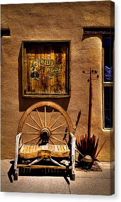 Wild West T-shirts - Old Town New Mexico Canvas Print by David Patterson