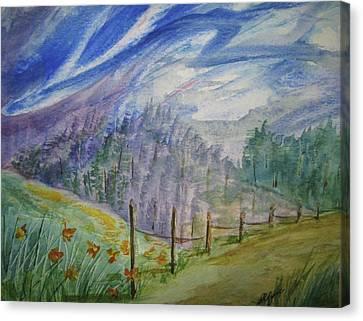 Wild Winds Canvas Print by Ellen Levinson