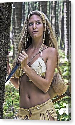 Wild Woman 3 Canvas Print by Don Ewing