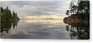 Canvas Print featuring the photograph Wildcat Cove Along Chuckanut Drive In Washington by JPLDesigns