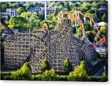 Wildcat Roller Coaster - Hershey Park Canvas Print