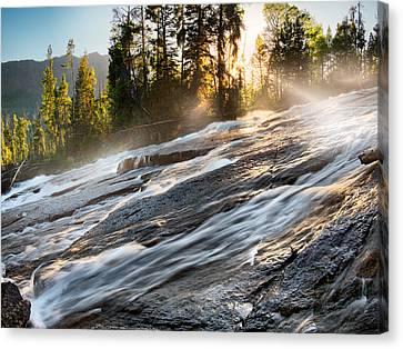 Beautiful Creek Canvas Print - Wilderness River by Leland D Howard