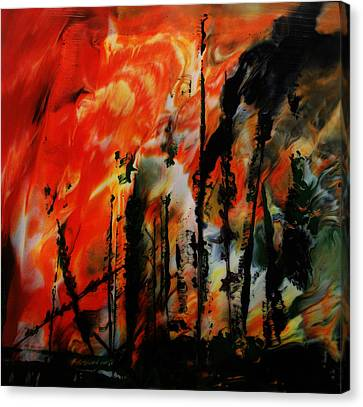 Wildfire 8 Canvas Print by Chad Rice