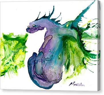 Wildfire And Water Dragon Canvas Print by D Renee Wilson