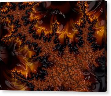 Canvas Print featuring the digital art Wildfire by Owlspook